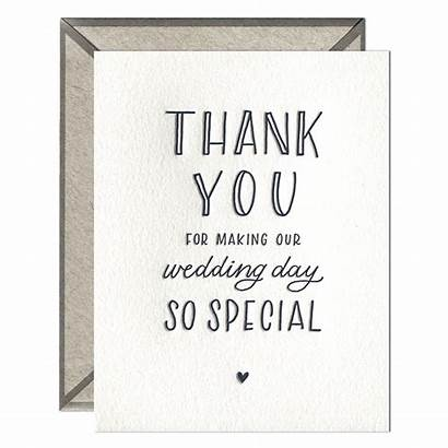 Thank Card Greeting Count Letterpress Boxed Single