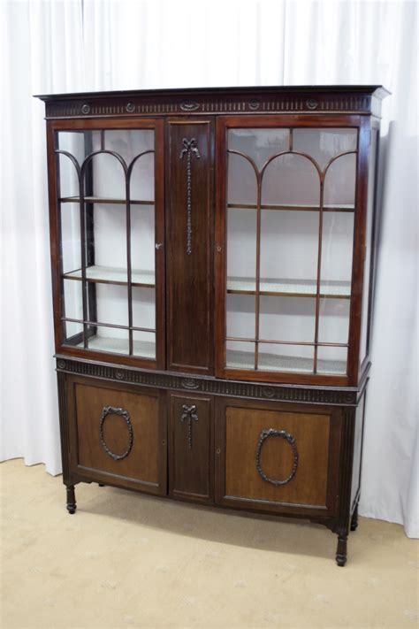 Display Cabinets For Sale - edwardian mahogany bow fronted display cabinet for sale