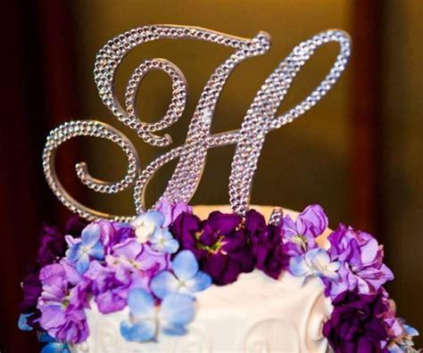 monogram cake topper  shipping  letter   alphabet swarovski crystal
