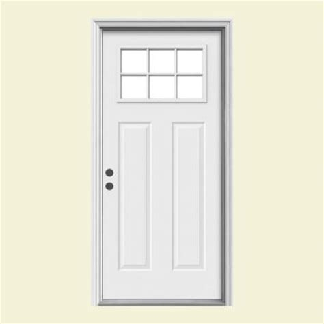 steel entry door home depot jeld wen 32 in x 80 in craftsman 6 lite primed premium
