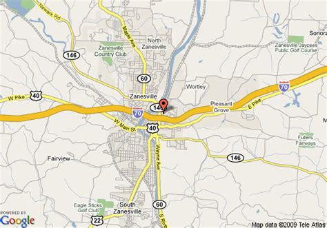 map  hampton inn zanesville zanesville