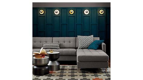 ditto ii button tufted sectional sofa  sectionals