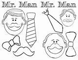 Coloring Moustache Mustache Template sketch template
