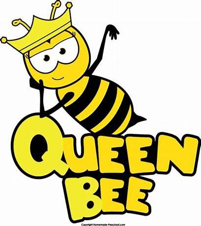 Bee Clip Bumble Bees Cartoon Clipart Queen