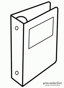 Binder or notebook coloring page - Print. Color. Fun!