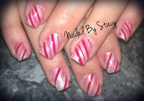 candy cane nails hand painted nail art gallery