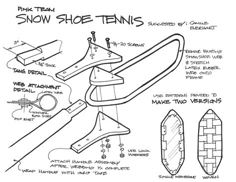 snowshoe plans plans diy   build entryway