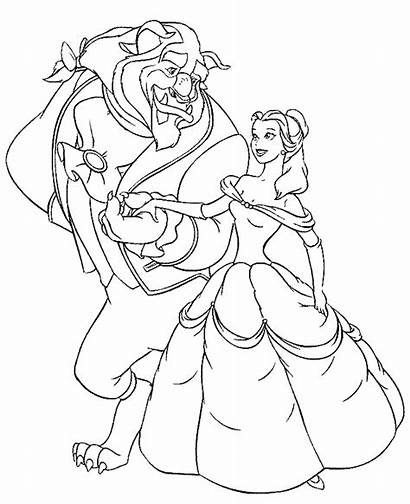 Beast Beauty Coloring Pages Dancing Getcoloringpages
