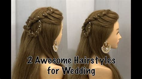 beautiful open hairstyle for wedding or party easy