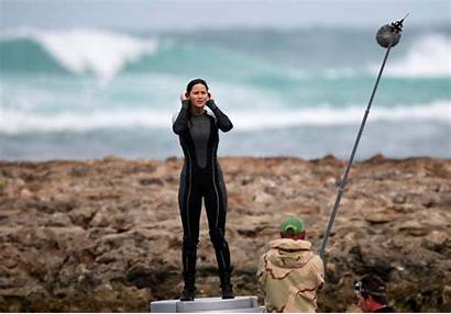 Hunger Games Catching Lawrence Jennifer Fire Hawaii
