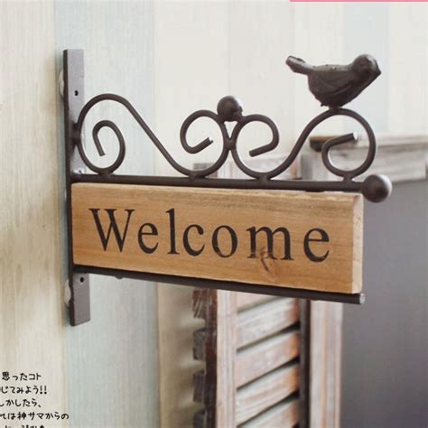 welcome home interiors free shipping vintage style iron bird design welcome