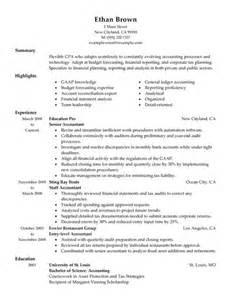 Sample Accountant Resume Example