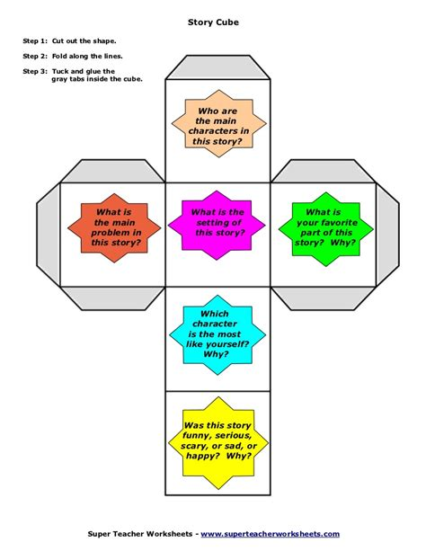 Story Cube Template by Story Elements Cube Template Pictures To Pin On