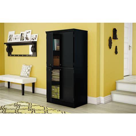 south shore morgan pure black storage cabinet 7270971
