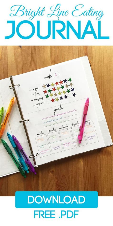bright  eating meal planner  journal