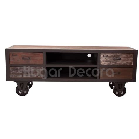 meuble tv vintage sur roulettes industrielle achat vente meuble tv meuble tv vintage sur