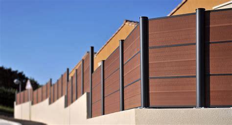 bois composite cloture cl 244 ture en bois composite montr 233 al piveteau bois