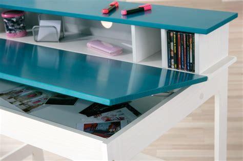 bureau bleu bureau enfant contemporain blanc bleu pétrole