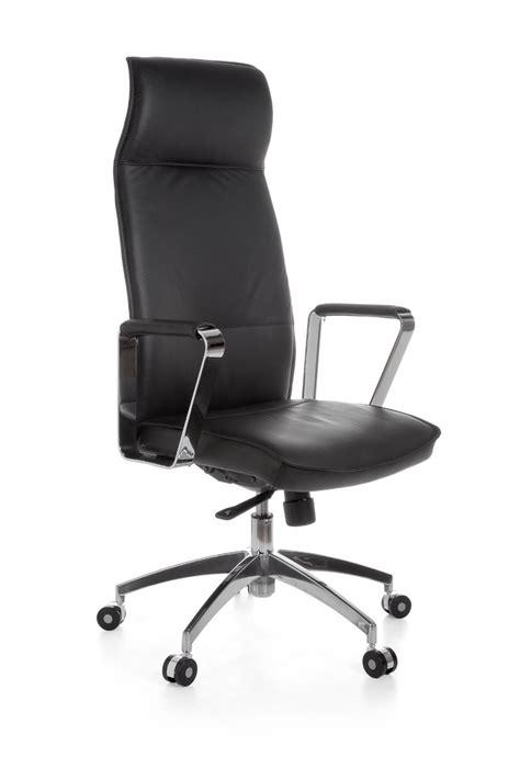 amstyle chaise de bureau en cuir président exécutif