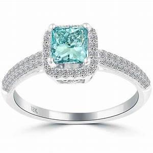 princess cut blue diamond engagement rings wedding and With diamond wedding rings princess cut