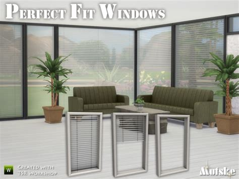 Perfect Fit Windows By Mutske • Sims 4