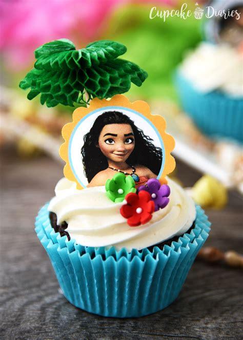 Themed Kitchen Ideas - moana cupcakes