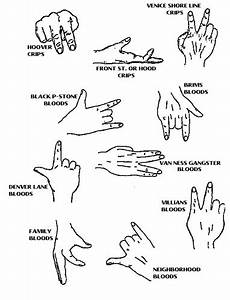 BLOOD GANG HAND SIGNS