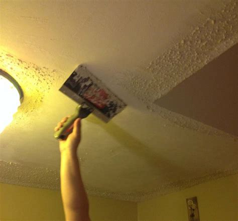 Remove Popcorn Ceilings by Removing Popcorn Ceilings With Pictures