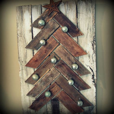 scavenger chic blog pallet wood christmas tree diy