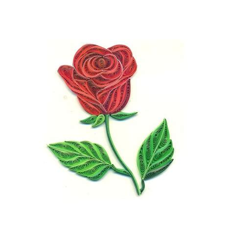 handmade card quilling card quilled rose love card