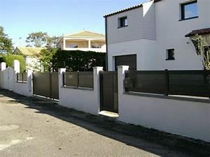 Cloture Maison Moderne : cloture de maison grille de cloture chromeleon ~ Melissatoandfro.com Idées de Décoration