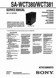 Sony Sa-wct380  Sa-wct381 Service Manual