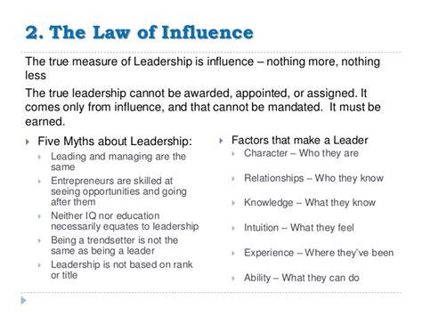 irrefutable laws  leadership