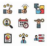 Employees Icons Employee Support Vector Organization Services