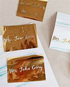 diy gold foil place cards beautiful wedding and places With minc foil wedding invitations