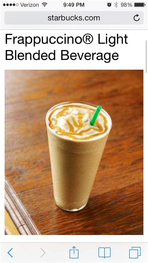 Delicious, light, 90 calories if you use the sugar substitute, but only 135 if you use regular sugar. Pin by Love These on Drinks | Caramel frappuccino, Healthy starbucks, Coffee recipes