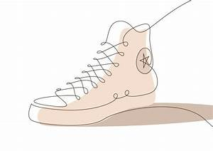 Memorable Sneakers  One Line Illustrations By Differantly