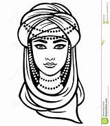 Turban Coloring Pages Template Drawing Arab Sketch Illustration sketch template