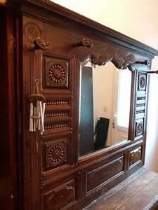 porte manteau miroir clasf With porte manteau ancien avec miroir