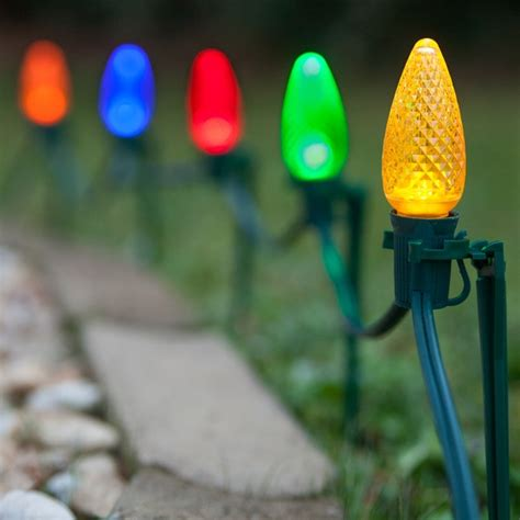 christmas light stakes     light