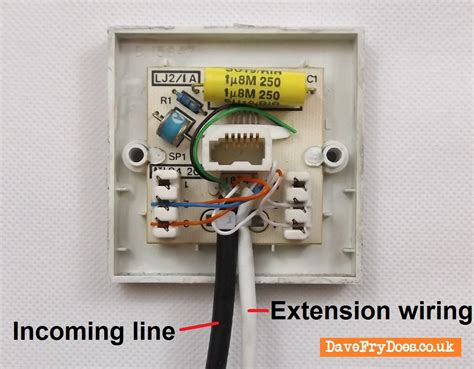 wiring diagram phone socket install an nte5a bt openreach etc master socket