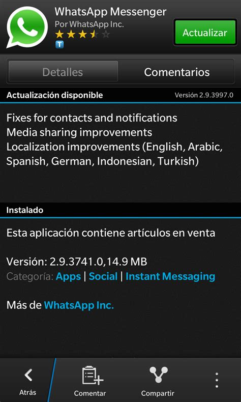 blackberry panam 225 actualiza whatsapp messenger para blackberry