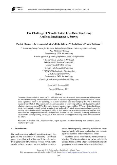 (PDF) The Challenge of Non-Technical Loss Detection Using