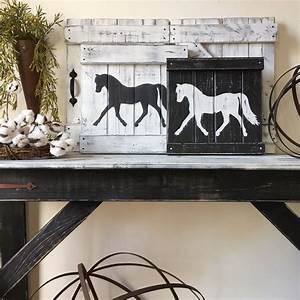Rustic horse decor equestrian wall