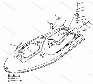 Polaris Watercraft 1997 Oem Parts Diagram For Hull  U0026 Body