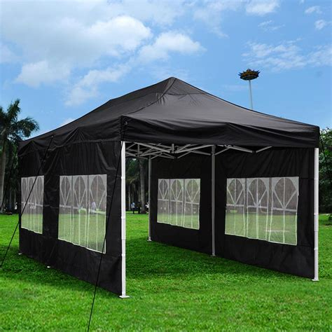 outdoor patio ez pop  wedding party tent canopy wsidewall carry bag ebay