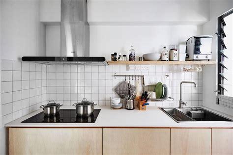 hdb flat kitchen design kitchen design ideas 10 simply stylish wood tone hdb flat 4166