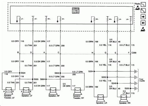 Wiring Diagram For 2002 Cadillac by 2002 Cadillac Radio Wiring Diagram