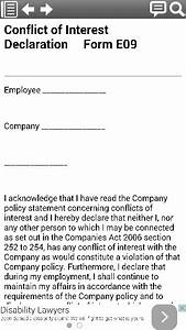 conflict of interest declaration legal form template from With conflict of interest declaration template