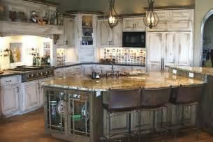 White Rustic Kitchen Cabinets rustic white kitchen island kitchenidease rustic white kitchens